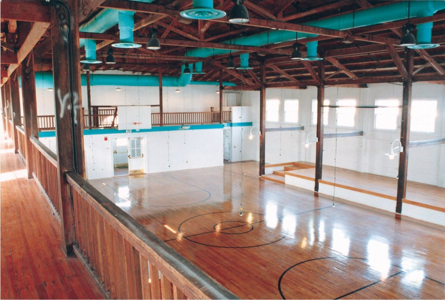 Interior of the Fieldhouse from the second floor